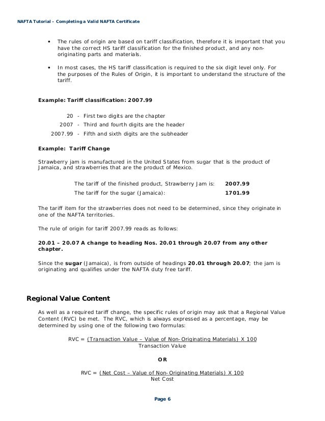 nafta tutorial steps to completing a valid nafta certificate. Black Bedroom Furniture Sets. Home Design Ideas