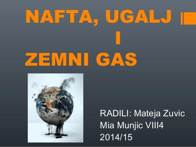 NAFTA, UGALJ I ZEMNI GAS RADILI: Mateja Zuvic Mia Munjic VIII4 2014/15