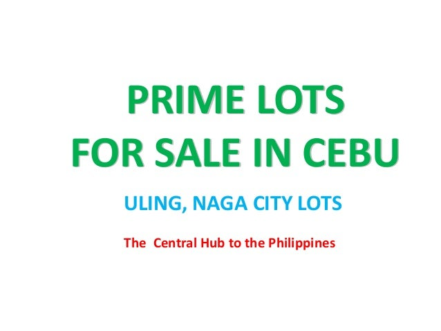 The Central Hub to the Philippines PRIME LOTS FOR SALE IN CEBU ULING, NAGA CITY LOTS