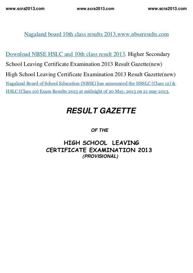 www.scra2013.com www.scra2013.com www.scra2013.comNagaland board 10th class results 2013,www.nbseresults.comDownload NBSE ...