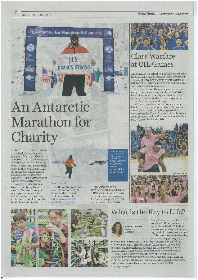 An Antarctic Marathon for Charity