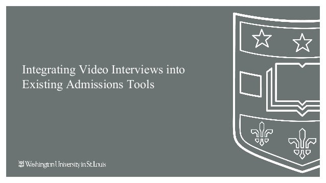 Integrating Video Interviews into Existing Admissions Tools