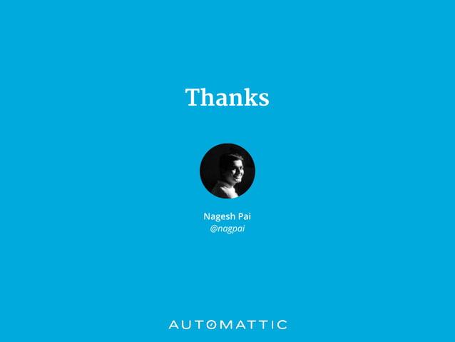 Thanks Nagesh Pai @nagpai