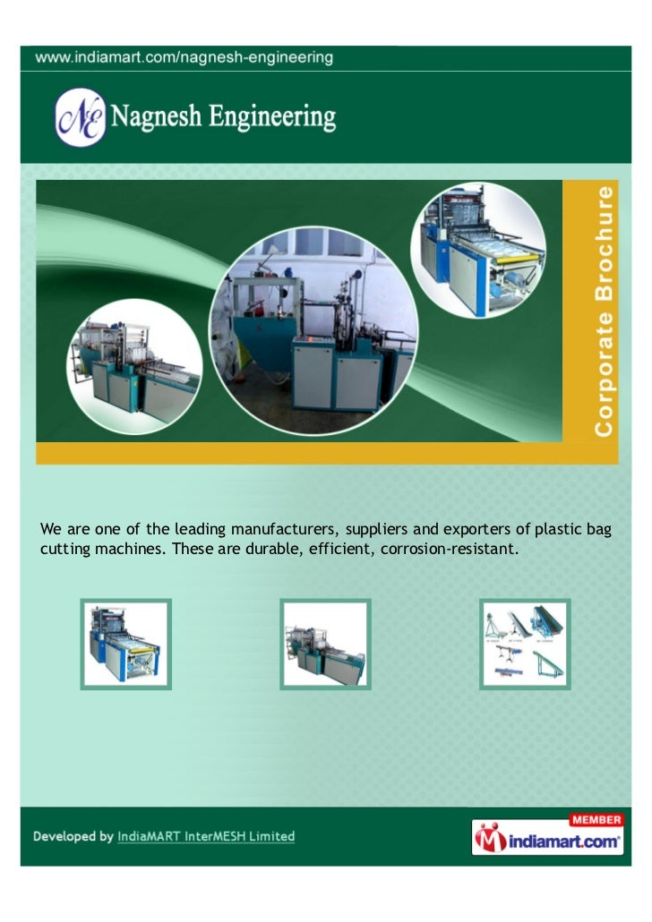 We are one of the leading manufacturers, suppliers and exporters of plastic bagcutting machines. These are durable, effici...