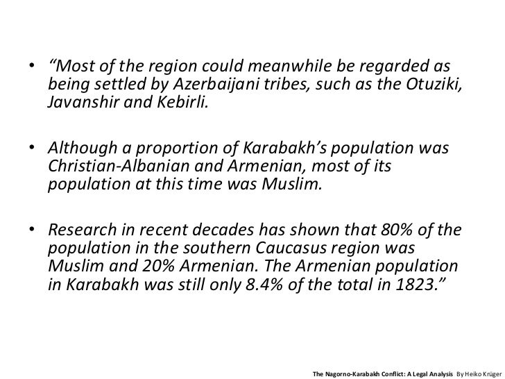 an analysis of the karabakh conflict There are many social media websites and blogs that monitor the situation in  nagorno-karabakh and provide multiple views and analysis on the role of  external.