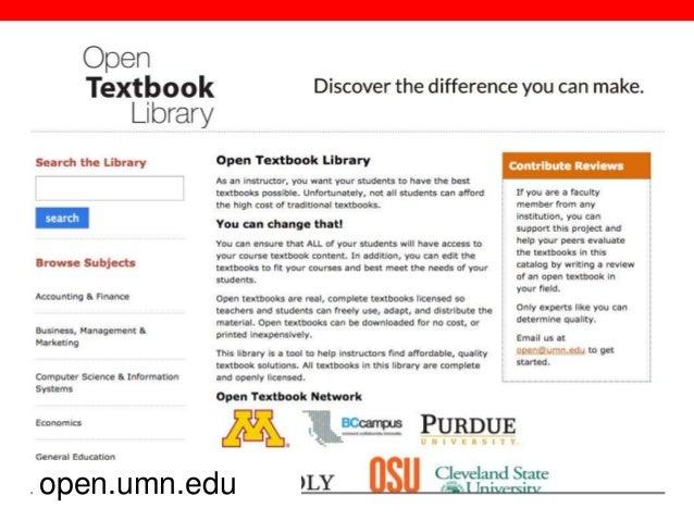@txtbks   sparcopen.org open.umn.edu