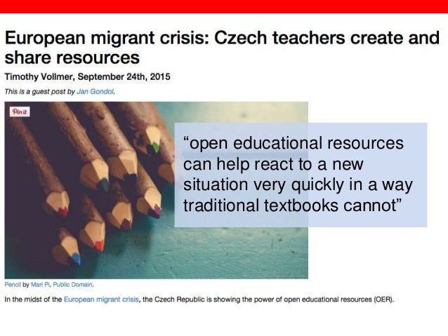 """@txtbks   sparcopen.org """"open educational resources can help react to a new situation very quickly in a way traditional te..."""