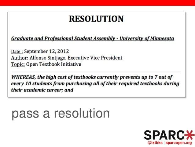 @txtbks   sparcopen.org pass a resolution