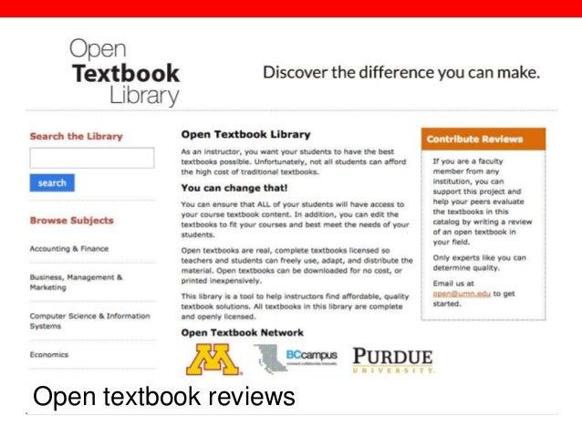 @txtbks   sparcopen.org Open textbook reviews