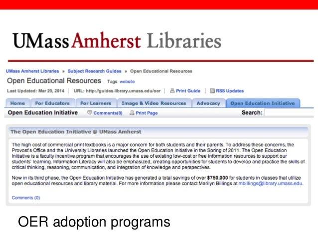 @txtbks   sparcopen.org OER adoption programs