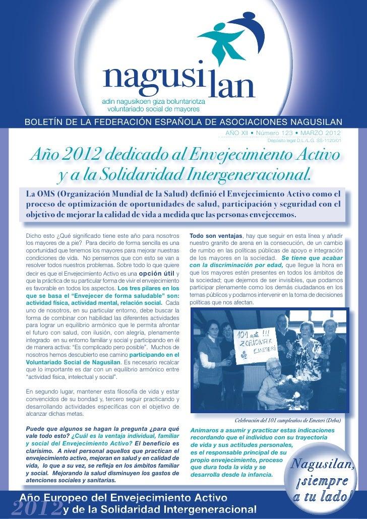 BOLETÍN DE LA FEDERACIÓN ESPAÑOLA DE ASOCIACIONES NAGUSILAN                                                               ...