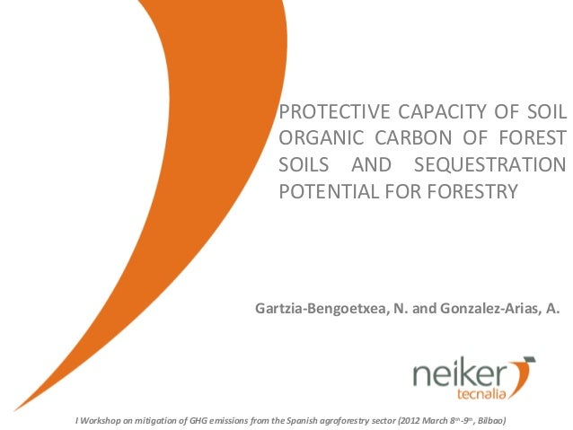 PROTECTIVE CAPACITY OF SOIL                                                  ORGANIC CARBON OF FOREST                     ...