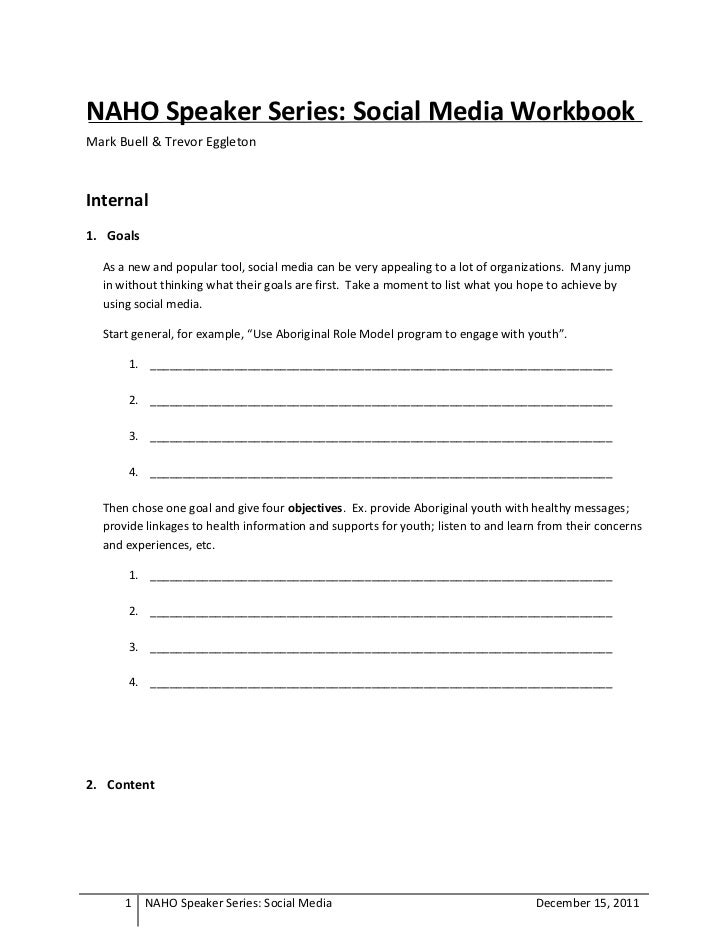 Naho Social Media Workbook