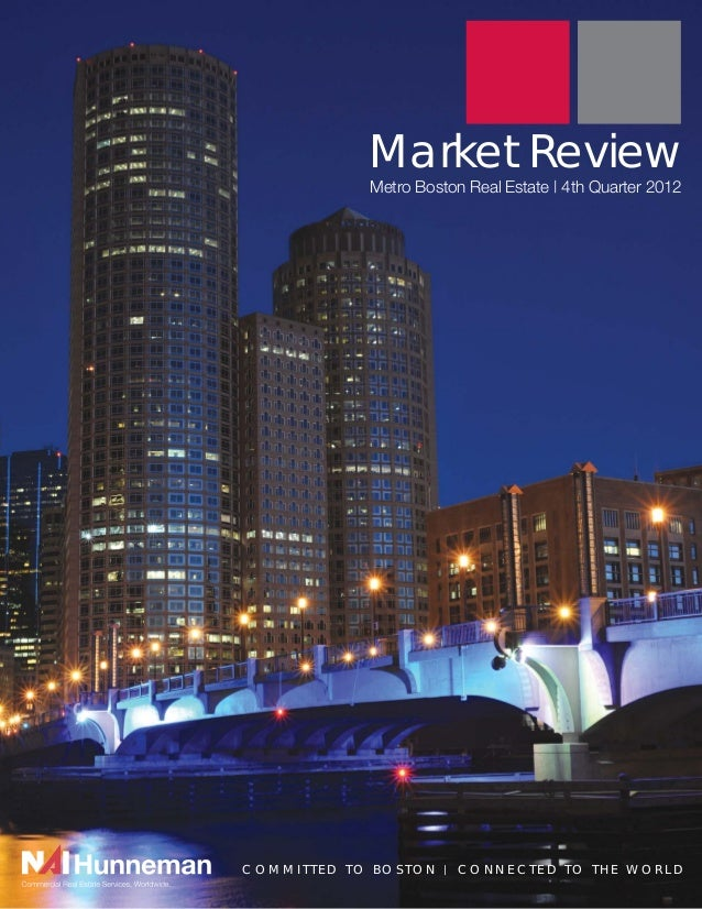 Market Review            Metro Boston Real Estate | 4th Quarter 2012COMMITTED TO BOSTON   |   CONNECTED TO THE WORLD