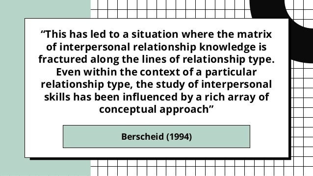"""""""This has led to a situation where the matrix of interpersonal relationship knowledge is fractured along the lines of rela..."""