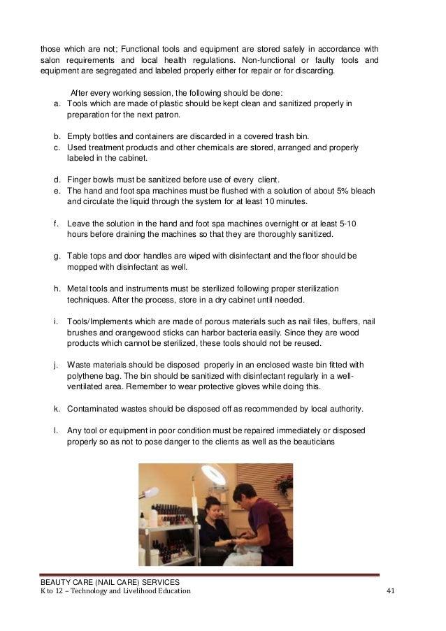 Nail Care Learning Module K 12