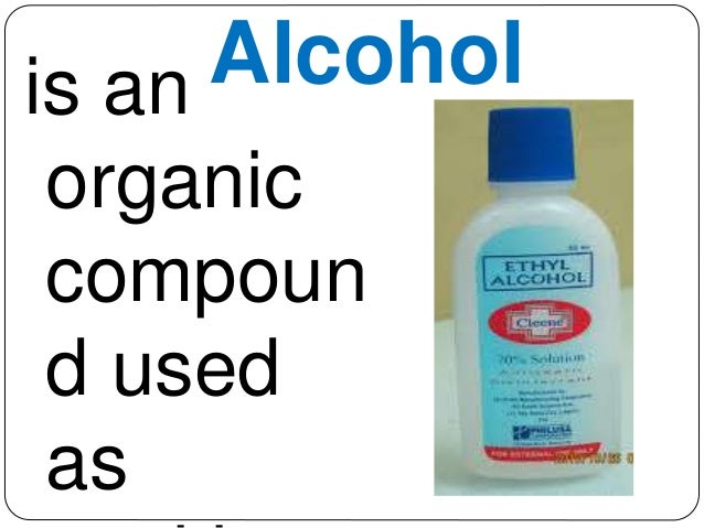 23 Is An Alcohol Organic Compoun D Used As Sanitizer