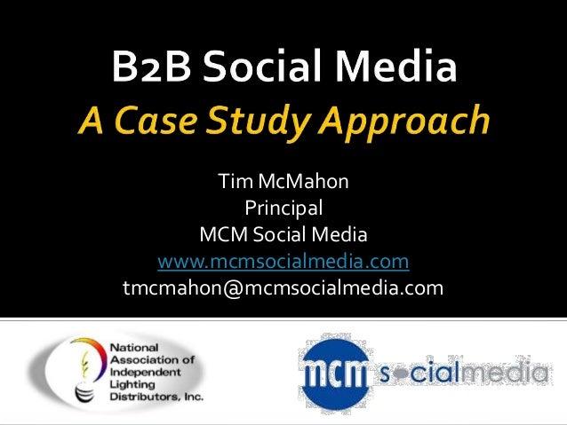 Tim McMahon          Principal      MCM Social Media   www.mcmsocialmedia.comtmcmahon@mcmsocialmedia.com