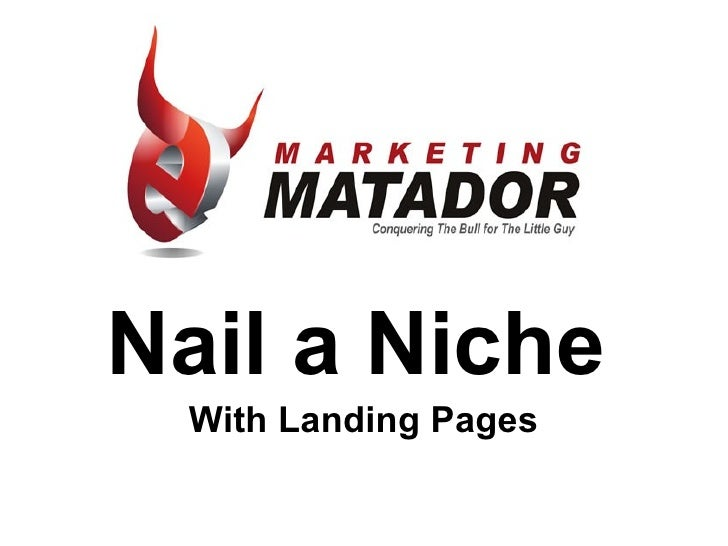 Nail a Niche With Landing Pages
