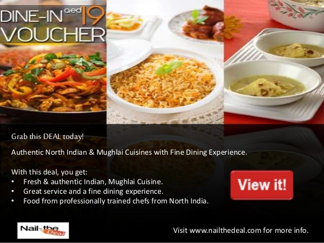 Nail The Deal Best Buffet Lunch Dinner Restaurant Deals