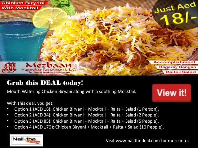 Nail The Deal Best Online Daily Dinner Meal Restaurant