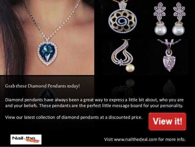 Nail the deal branded diamond jewellery at best prices in dubai ab 4 grab these diamond pendants mozeypictures Choice Image