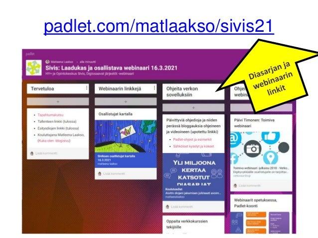 Näin toteutat laadukkaan ja osallistavan webinaarin 16.3.21 Slide 3