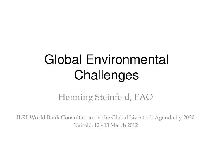 Global Environmental              Challenges               Henning Steinfeld, FAOILRI-World Bank Consultation on the Globa...
