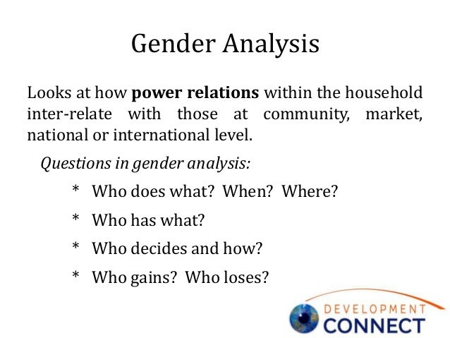 nature of gender-relations and gendered power structures essay Gender roles essay  roles and the established values have little to do with nature and everything to do with culture  its role in gender power relations .