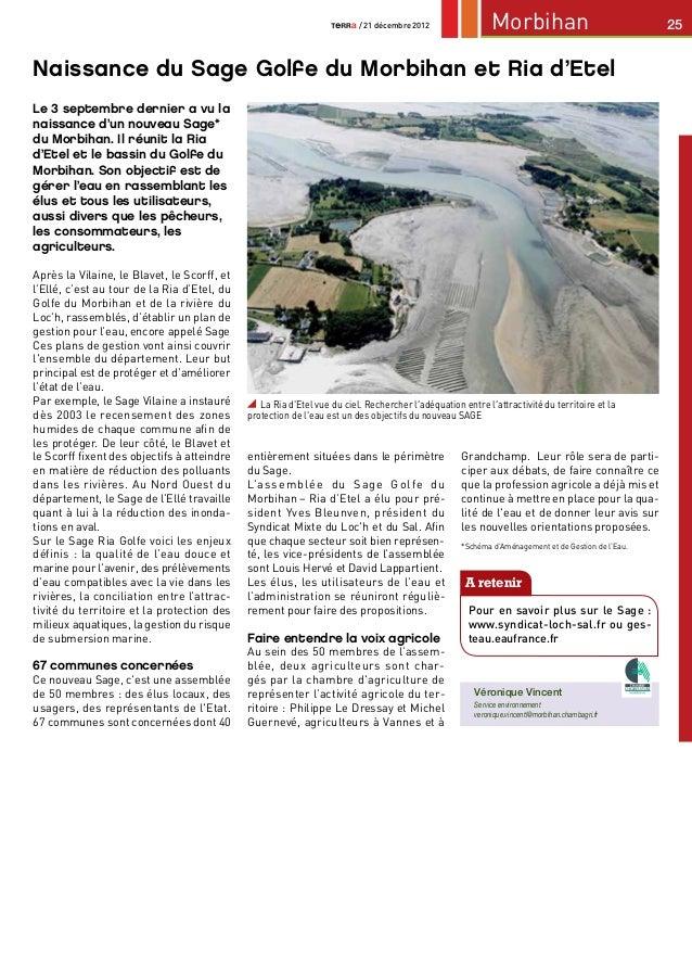 / 21 décembre 2012                 Morbihan                               25Naissance du Sage Golfe du Morbihan et Ria d'E...