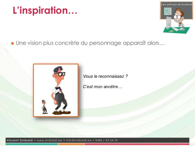 L'inspiration…   Une vision plus concrète du personnage apparaît alors…                            Vous le reconnaissez ?...