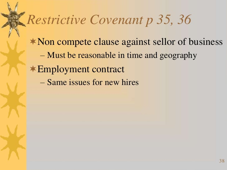 restrictive covenants essay This is a sample of our (approximately) 4 page long reform of covenants notes, which we sell as part of the land law notes collection, a 1st two problems identified with restrictive covenants: • buy the full version of these notes or essay plans and more in our land law notes.