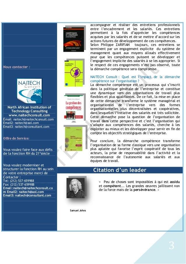 De la Gestion des Compétences à la Démarche Compétence, Bouchaib MOUKHTARI et Nabil GHARIB Slide 3