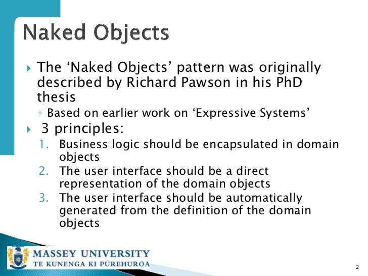 Naked objects pattern