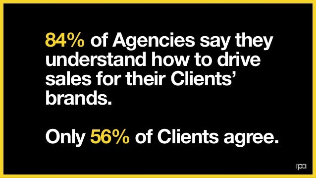 76% of Agencies say they do a good job of demonstrating ROI. ! Only 40% of Clients agree.