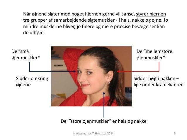 Når øjnene sigter mod noget hjernen gerne vil sanse, styrer hjernen  tre grupper af samarbejdende sigtemuskler - i hals, n...