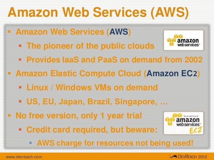 AMAZON EC2 NO CREDIT CARD
