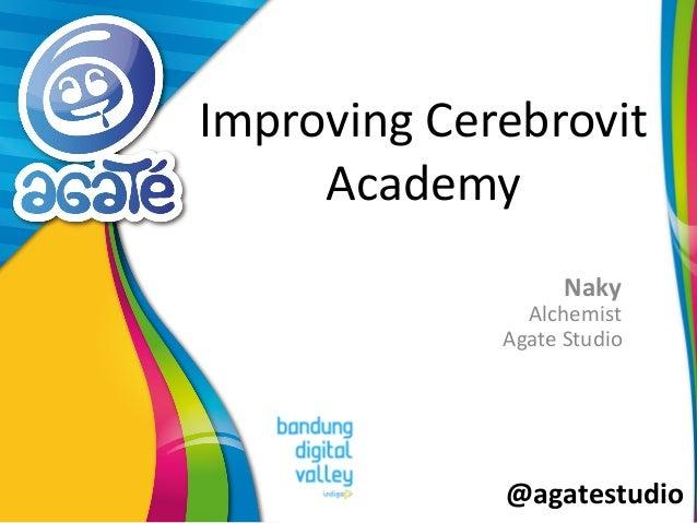 @agatestudio Improving Cerebrovit Academy Naky Alchemist Agate Studio