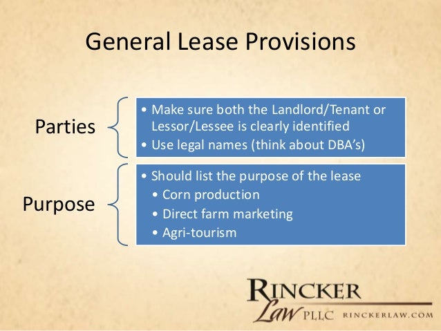 Overview Of Farm Leases