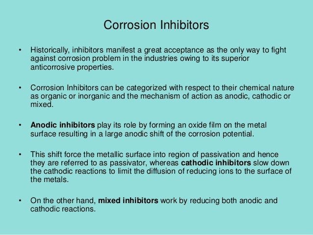 classification of corrosion inhibitors pdf