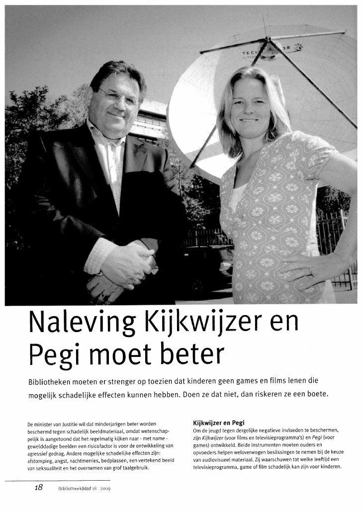 Naleving Kijkwijzer En Pegi Moet Beter Bibliotheekblad20090910p18 19