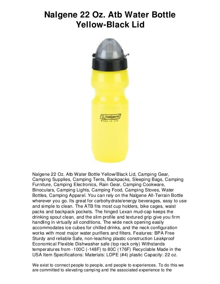 Blue Nalgene All-Terrain 22 oz Water Bottle