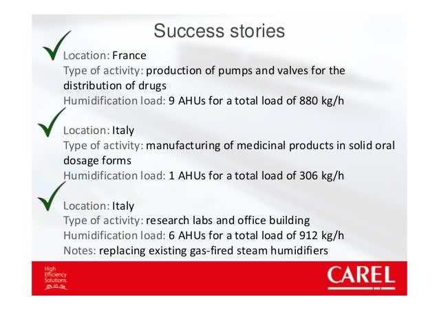 Air humidification and energy saving in pharmaceutical processes
