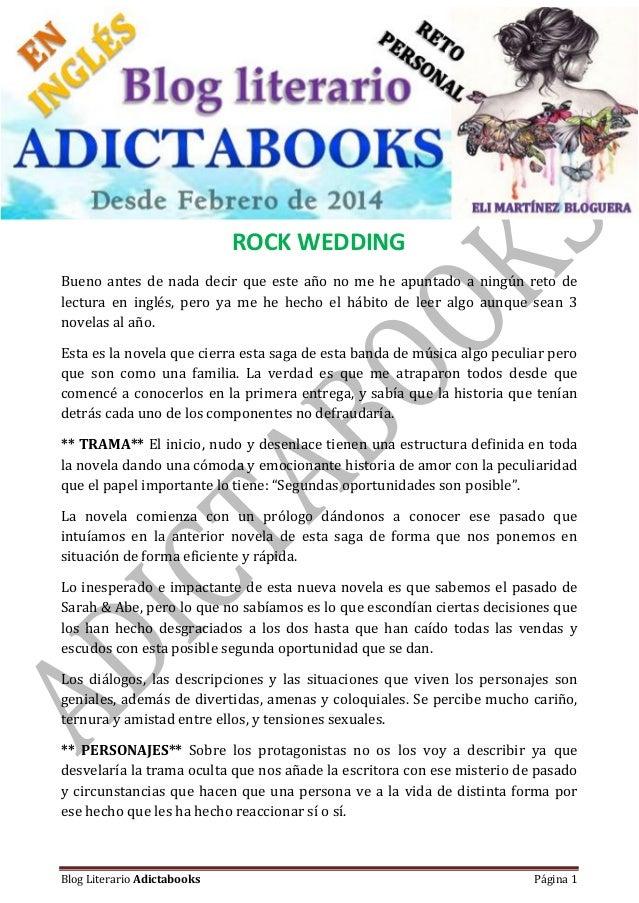 #Reseña – Bajo registro de propiedad Blog Literario Adictabooks Blog Literario Adictabooks Página 1 ROCK WEDDING Bueno ant...