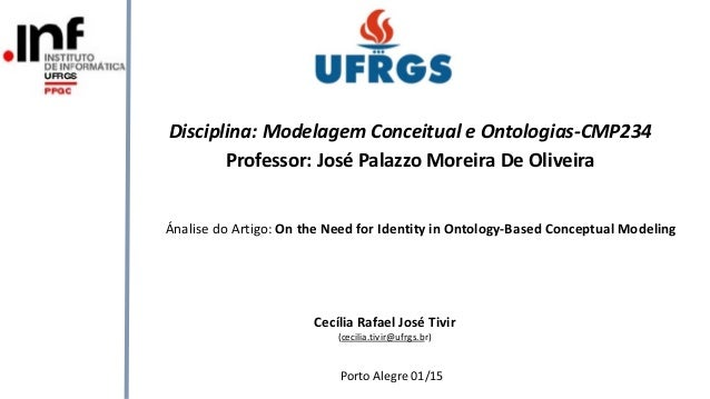 Ánalise do Artigo: On the Need for Identity in Ontology-Based Conceptual Modeling Porto Alegre 01/15 Disciplina: Modelagem...
