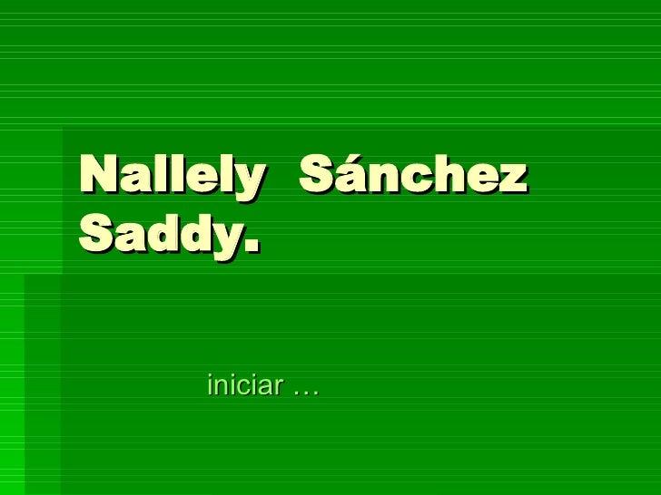 Nallely  Sánchez  Saddy. iniciar …