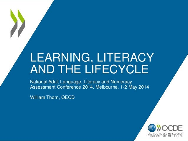 LEARNING, LITERACY AND THE LIFECYCLE National Adult Language, Literacy and Numeracy Assessment Conference 2014, Melbourne,...