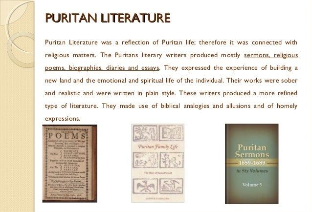 north american literature colonial time  reprobation 11 puritan literaturepuritan literature