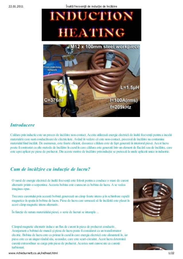 22.01.2011                                       Înaltă frecvenţă de inducţie de încălzire Introducere Caldura prin induct...