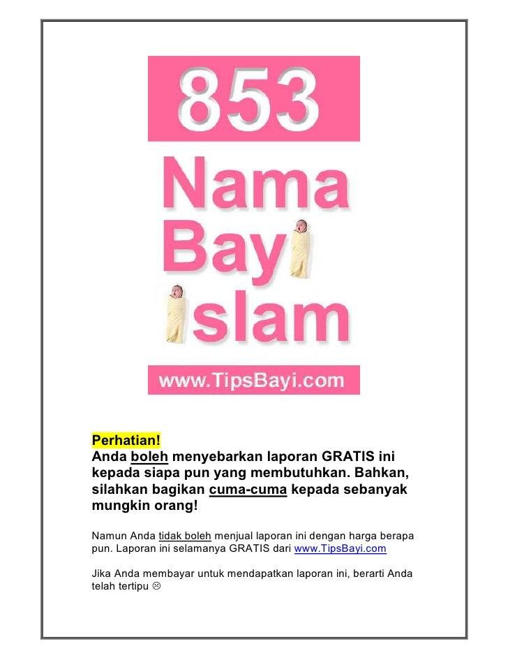 Nama2 bayi islami
